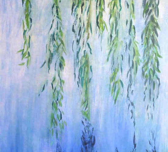 Willow tree and water