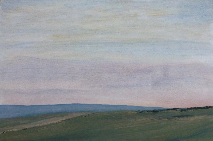 downlands with distant hills