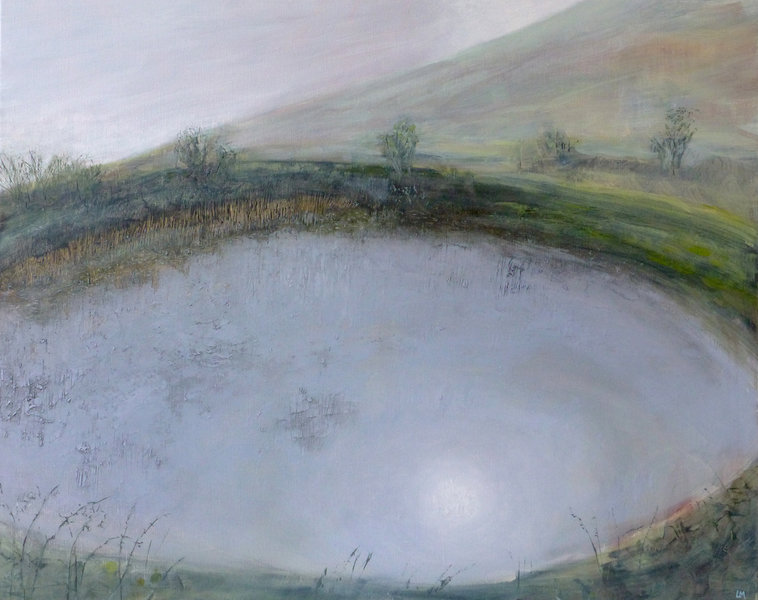 small natural pond on the downs